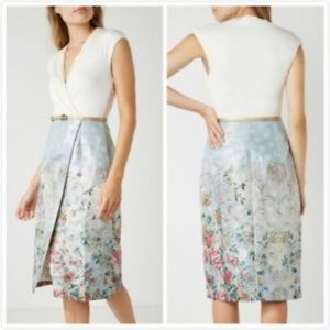 Ted Baker Dresses - Ted Baker London Macal Patchwork Wrap Dress w/Belt
